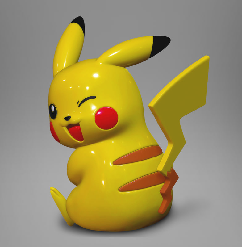 3d cute pikachu printing