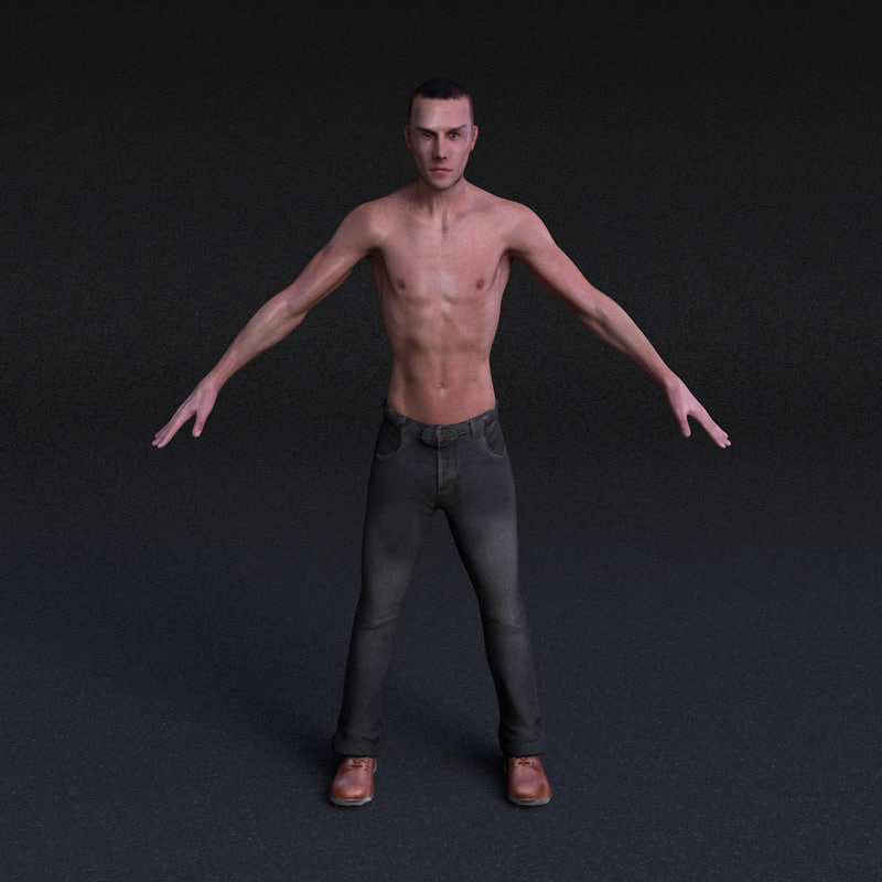 3d model character male - rigged