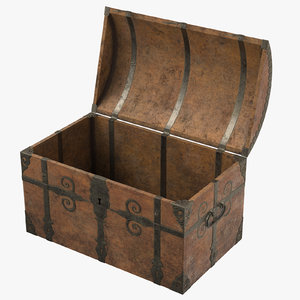 3d model medieval sea chest