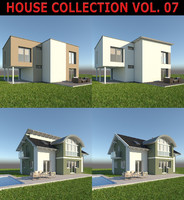 family homes sets 3d model