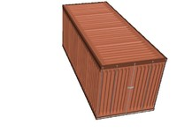 industrial cargo container 3d model