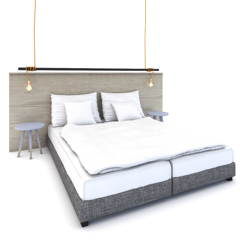 bed boxspringbed 3d model