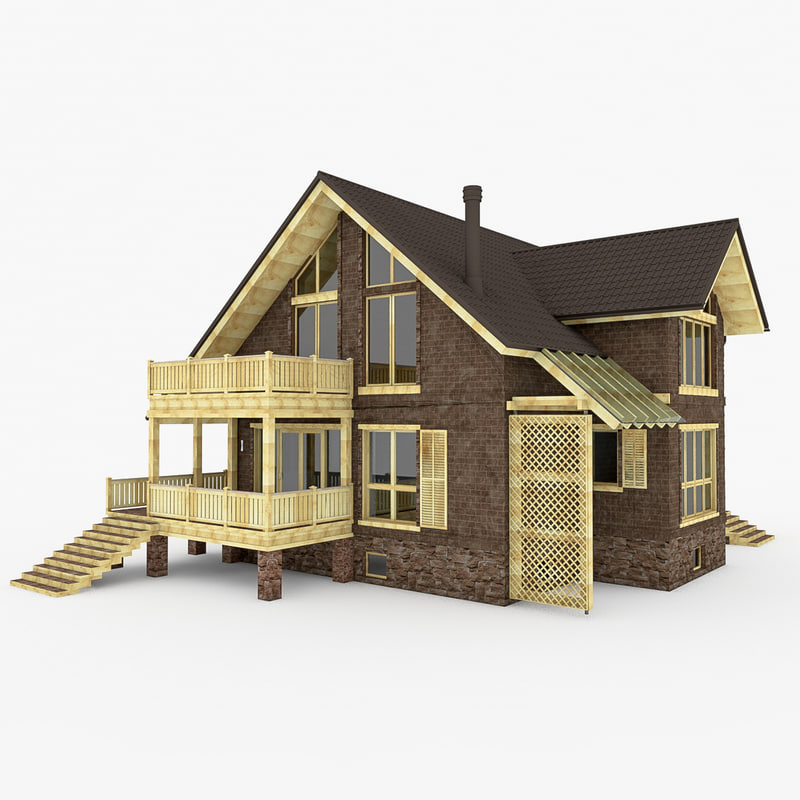 obj individual house modern