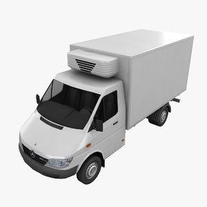 3d model mercedes sprinter truck