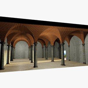 romanic vaulting simple column wrl
