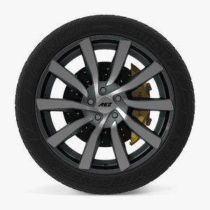 dxf reef disk car wheel