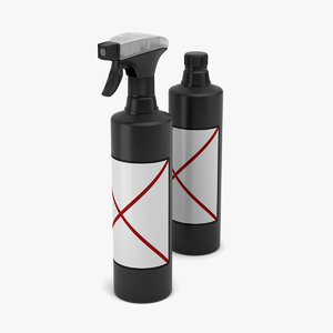 3d model bottle spray