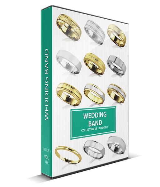 beautiful wedding bands 3d max