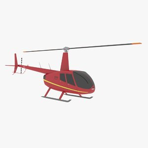 helicopter robinson r44 3d model