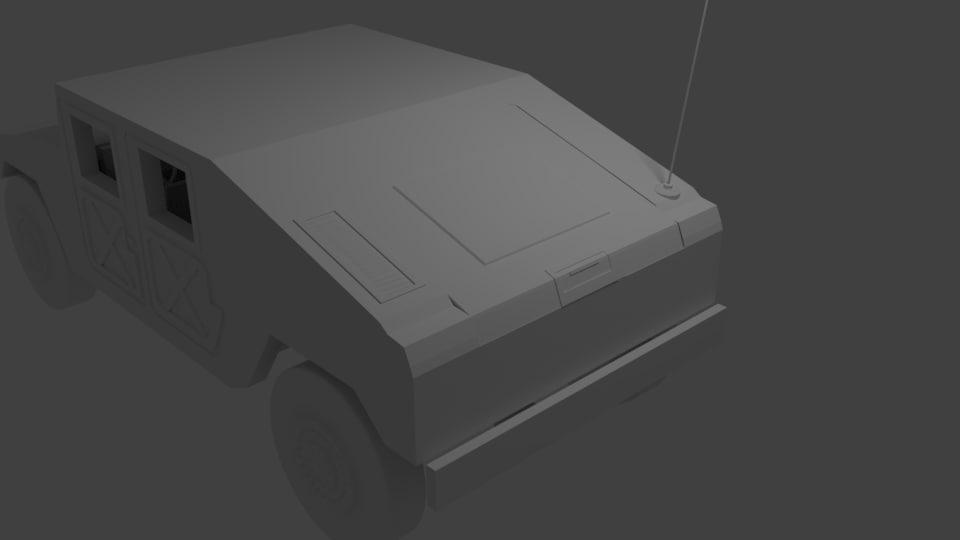 3d model humvee
