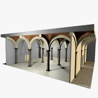 romanic vaulting column spacings max