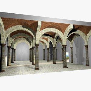romanic vaulting column 5 3d max