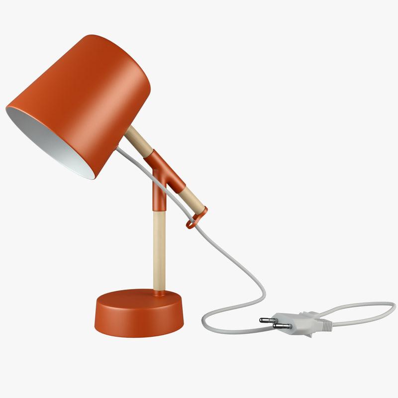 3d peeta lamp desk model