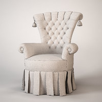 free classic armchair 3d model