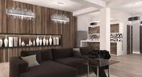3d interior modern apartament