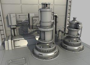 3d sci-fi elements model
