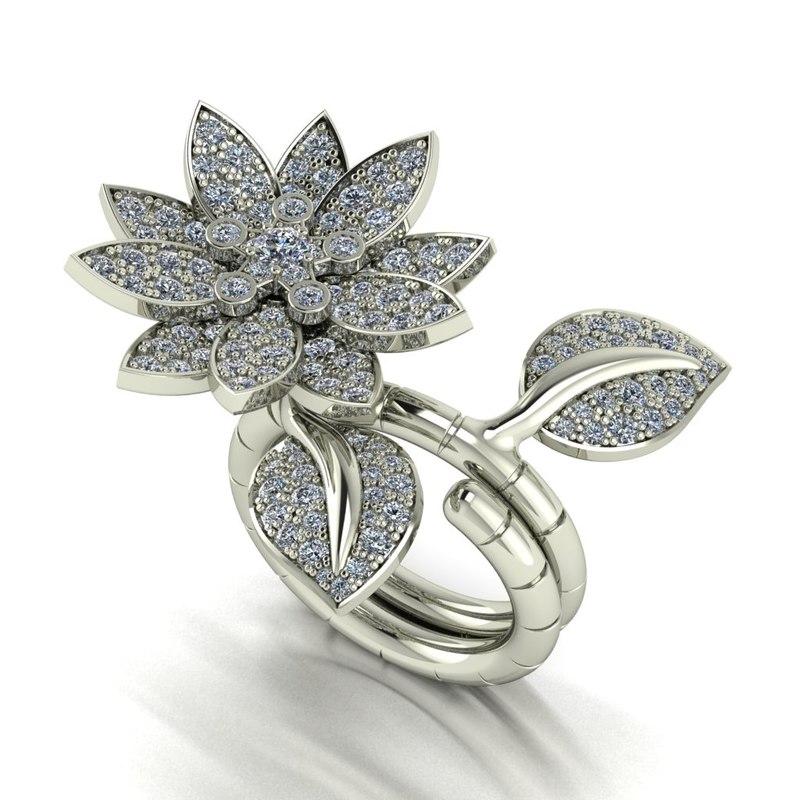 ring flower 3d model