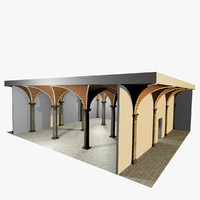 Vaulting 2_3 - Romanic, 750cm spaced, with thin curbs