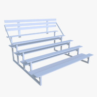3d model of bleacher blender