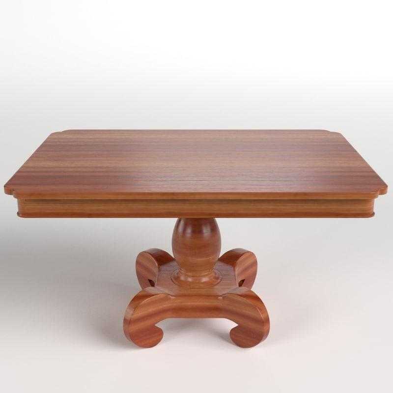 table desk 5 3d model