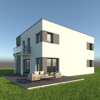 modern single family home max