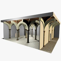 Vaulting 2_5 - Romanic, 750cm spaced, with thick arches and thin curbs