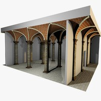 3d romanic vaulting column spacings