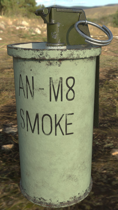 3ds an-m8 smoke grenade