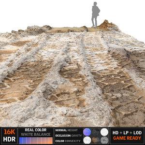 3d model big track scan 16k