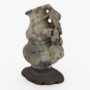 3d model ornate chinese vase
