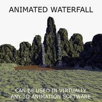 waterfall animations 1 3d c4d