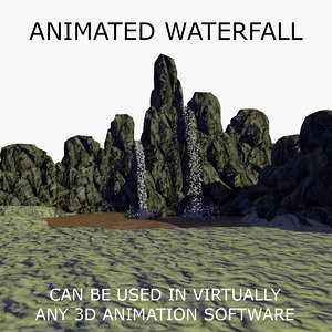 3d model waterfall animations 1
