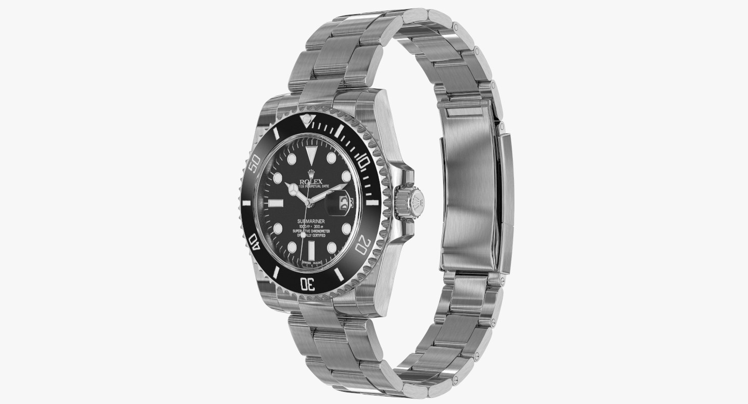 3d model realistic rolex submariner date