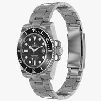 realistic rolex submariner date 3d model
