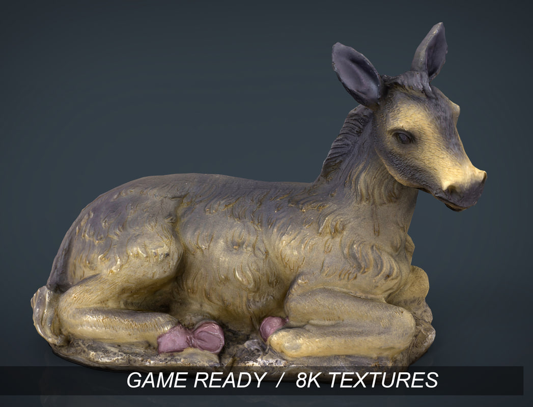 donkey native 3d model