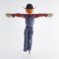 3d field scarecrow