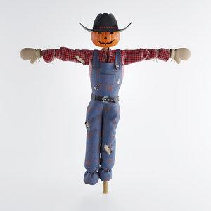 3d field scarecrow