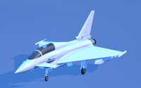 eurofighter typhoon fighter jet c4d