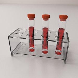 3d blood sample tube