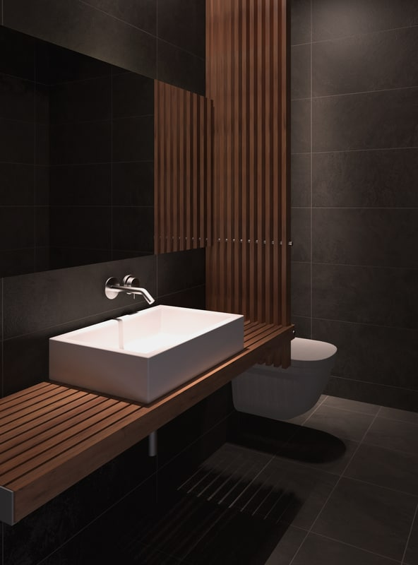 modern bathroom interior 3d model