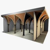 Vaulting 4_3 - Renaissance, 750cm spaced, with thick curbs