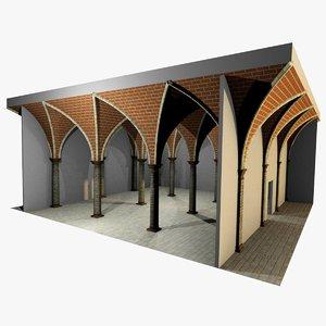 romanic vaulting column spacings obj