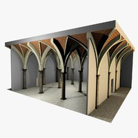 romanic vaulting column spacings 3d max