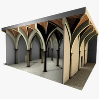 Vaulting 4_5 - Renaissance, 750cm spaced, with thick arches and thick curbs