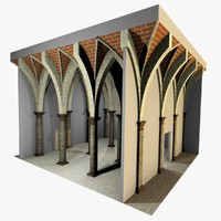 3d romanic vaulting column 5