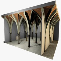 romanic vaulting column 5 3d model
