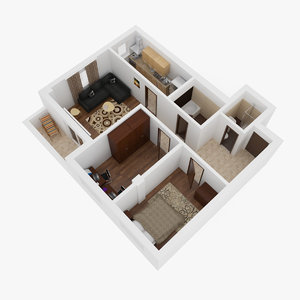3d model apartment interior