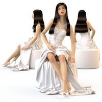 v-ray wedding evening dress max