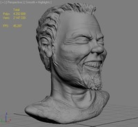 sculpture james hetfield 3d max