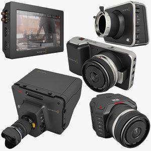 blackmagic video assist 3d model